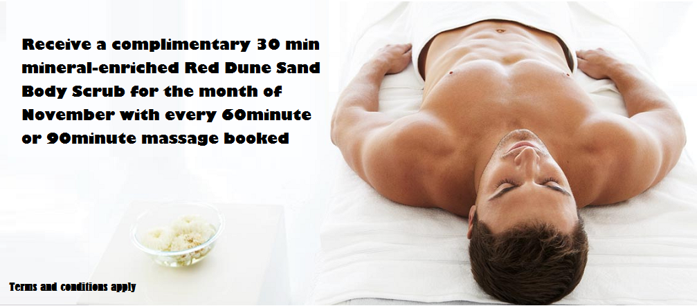 November Promotion 30min Scrub with Massage