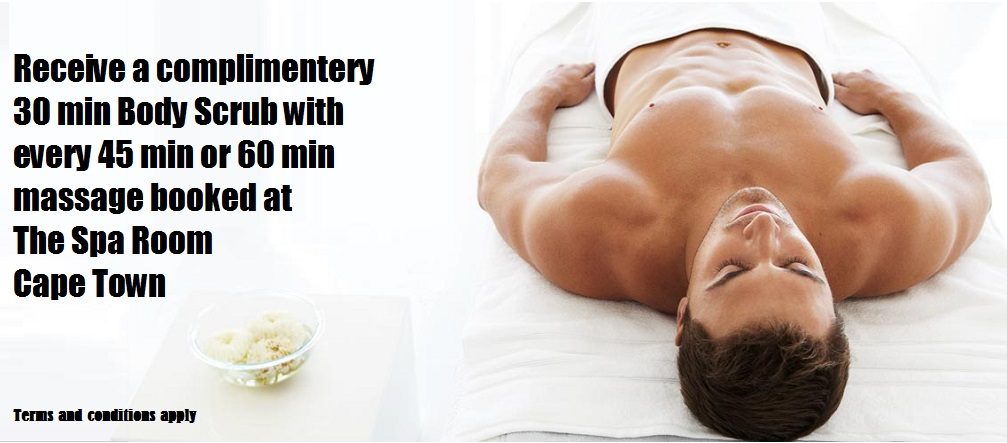 Promotional 30min Scrub with every 45 min or 60 min massage booked